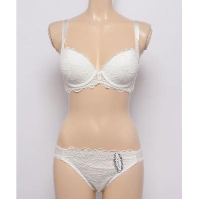 Absorle / 背中すっきり脇高 ブラ&ショーツセット WOMEN アンダーウェア > ブラ&ショーツ