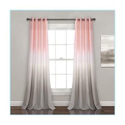 """新品Lush Decor Umber Fiesta Curtains Room Darkening Window Panel Set for Living, Dining, Bedroom (Pair), 84"""" x 52"""", Blush and Gray, 2"""