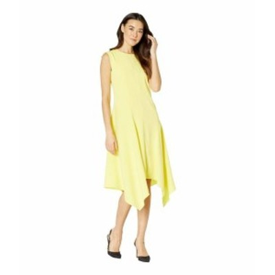 Vince Camuto ヴィンスカムート ドレス 一般 Sleeveless Satin Back Texture Asymmetrical Hem Dress