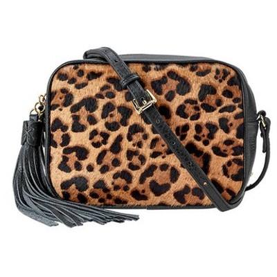 ギギニューヨーク レディース ショルダーバッグ バッグ Madison Leopard Hair Crossbody Bag