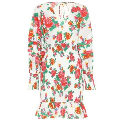 ロードリゾート RHODE レディース ワンピース ワンピース・ドレス Anya floral cotton minidress white dazzle