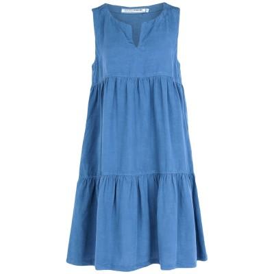 EUROPEAN CULTURE ミニワンピース&ドレス ブルーグレー L テンセル 72% / 麻 18% / コットン 10% ミニワンピース&