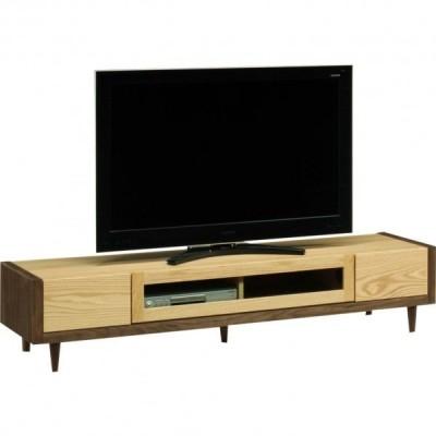 テレビ台 テレビボード ローボード 幅180 高さ37 ウォールナット オーク材 無垢 天然木 エコ塗装 脚付き カントリー調 国産 完成品