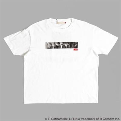 Factor= LIFEプリントTシャツ(ホワイト)