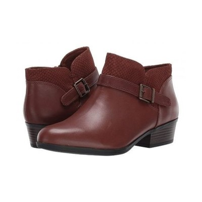 Clarks クラークス レディース 女性用 シューズ 靴 ブーツ アンクル ショートブーツ Addiy Sharilyn - Dark Tan Leather