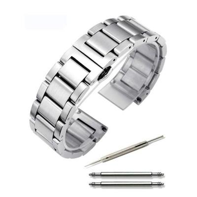 Calme(カルム) 腕時計 ステンレス ベルト つや消し ワンプッシュ式 ブレスレット 観音開き 18? 20? 22? 24? (18?
