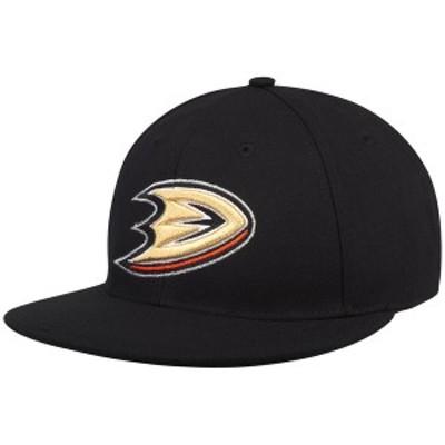アディダス メンズ 帽子 アクセサリー Anaheim Ducks adidas Basic Fitted Hat Black