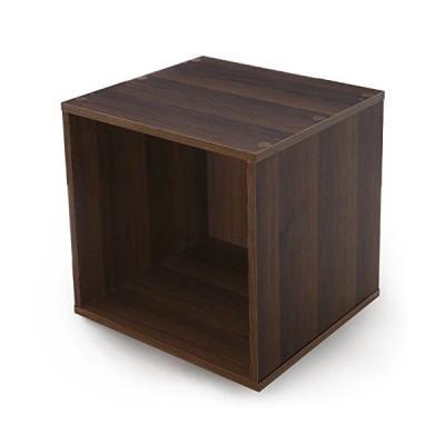 LOWYA ロウヤ カラーボックス 収納ボックス キューブボックス 幅39 単品 オープンタイプ ウォルナット