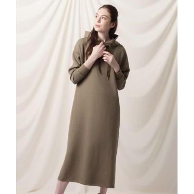 【クチュールブローチ】 ロングフーディーワンピース レディース ブラウン 38(M) Couture Brooch