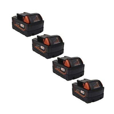 4-Pack 5000mAh 18V 48-11-1850 Battery Replace for Milwaukee 18V Batteries Lithium ion XC 48-11-1852 48-11-1862 48-11-1820 48-11-1840 48-11-1