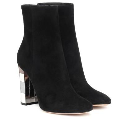 ジャンヴィト ロッシ Gianvito Rossi レディース ブーツ ショートブーツ シューズ・靴 disco heel 100 suede ankle boots Black