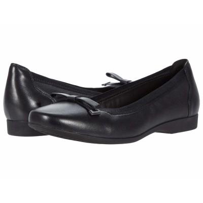 クラークス サンダル シューズ レディース Un Darcey Bow Black Leather