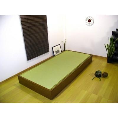 セミシングルサイズ 友澤木工 日本製 畳 ベッド ヘッドレス 収納畳ベッド 畳ベッド D-62