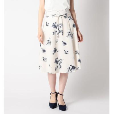 【ミッシュマッシュ/MISCH MASCH】 細紐付き花柄フレアスカート
