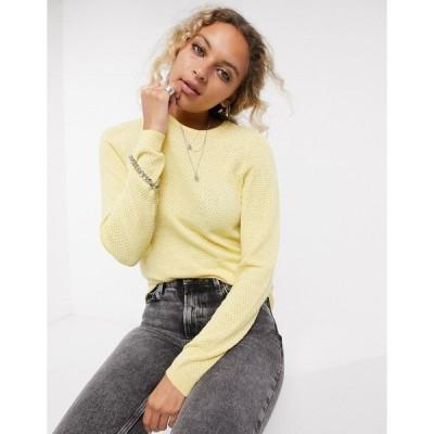 ヴェロモーダ レディース ニット&セーター アウター Vero Moda round neck sweater in yellow Pale banana