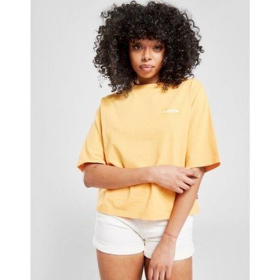 リーバイス Levis レディース ベアトップ・チューブトップ・クロップド Tシャツ トップス Vintage Logo Crop T-Shirt orange