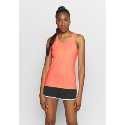 オンリープレイ カットソー レディース トップス ONPCLARISSA TRAINING - Sports shirt - neon orange