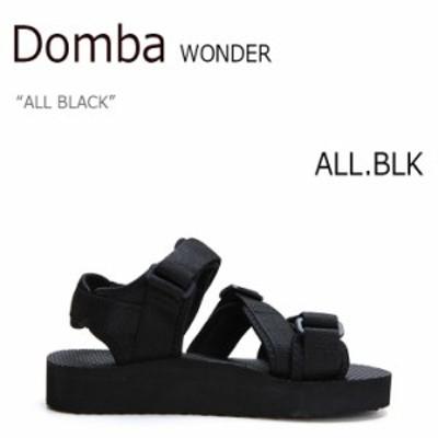ドンバ サンダル DOMBA メンズ レディース SANDAL WONDER ワンダー ALL BLACK ブラック F-7114 シューズ