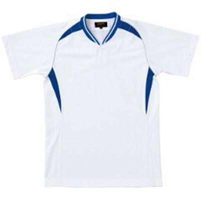 ゼット ZETT ベースボールシャツ(ジュニア用) [カラー:ホワイト×ロイヤルブルー] [サイズ:160] #BOT740JA