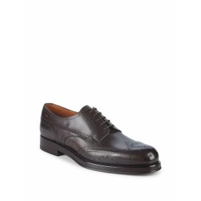 バリー メンズ シューズ オックスフォード 革靴 Norsk Wingtip Leather Oxfords