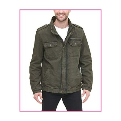 Levi's Men's Washed Cotton Two Pocket Military Jacket (Standard and Big & Tall), Olive, XX-Large並行輸入品