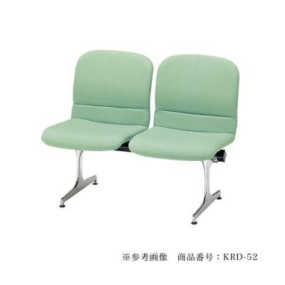 【法人限定】 ロビーチェア 背付き 2人用 病院 待合室 いす 椅子 オフィス ソファ 合成皮革 RD-52L 59%OFF