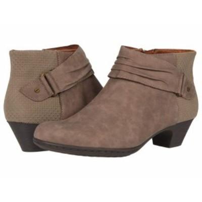Rockport ロックポート レディース 女性用 シューズ 靴 ブーツ アンクル ショートブーツ Brynn Rouched Boot Dust【送料無料】
