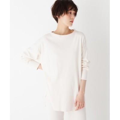 OPAQUE.CLIP / ギザコットンリブ ワイドシルエットカットソー【LOUNGEWEAR】 WOMEN トップス > Tシャツ/カットソー
