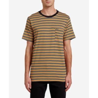 ボルコム メンズ Tシャツ トップス Men's Cornett Crew Short Sleeve T-shirt Black