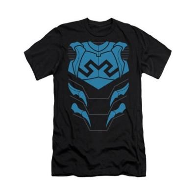 Tシャツ ディーシーコミックス Blue Beetle Costume JLA DC Comics Licensed Adult Slim Fit Shirt S-XXL