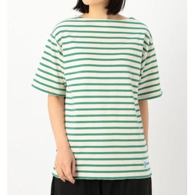 【ビショップ/Bshop】 【ORCIVAL】コットンモヨン ボートネック半袖Tシャツ STRIPE WOMEN