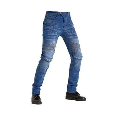 膝用プロテクター 装備 2色 サイズ選択 S〜3XL デニム オールシーズン 防風耐磨 バイクパンツ ハーフパンツセッ?
