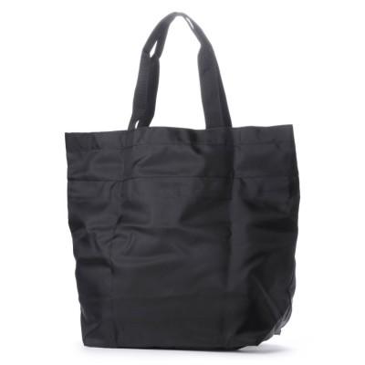 ヴィータフェリーチェ VitaFelice エコバッグ お買い物バッグ 巾着バッグ ナイロントートバッグ レジバッグ アウトドア バックカバー (BLACK)