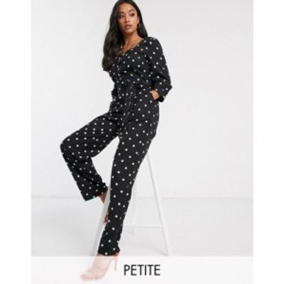 ワイ エー エス Y.A.S Petite レディース オールインワン ジャンプスーツ ワンピース・ドレス Arianna polka dot jumpsuit ブラック