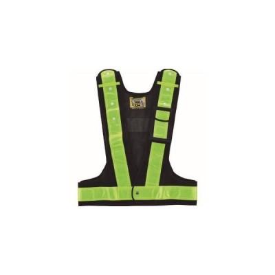 緑十字 238082 多機能セーフティベスト 紺/黄反射 多機能ベスト 黄 フリーサイズ ポケット4箇所付