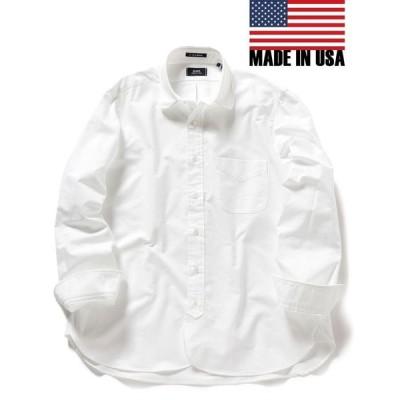 【シップス メン】SHIPS×IKE BEHAR: アメリカ製 オックスフォード ラウンドカラー シャツ
