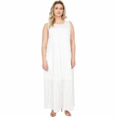 マックススタジオ MAXSTUDIO レディース ワンピース Aライン ワンピース・ドレス Cotton Tiered Maxi Dress White