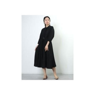 トゥエルブアジェンダ 12Twelve Agenda ドライ風スパローンピンタックシャツ (ブラック)