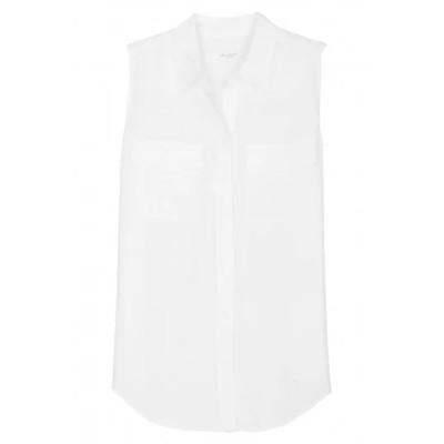 EQUIPMENT エキップモン ノースリーブシャツ レディース ホワイト S