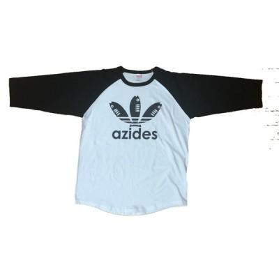 【送料無料】【新品】azides アジデス ロング 長袖 七分袖 Tシャツ おもしろ パロディ プレゼント メンズ 白 S〜XL