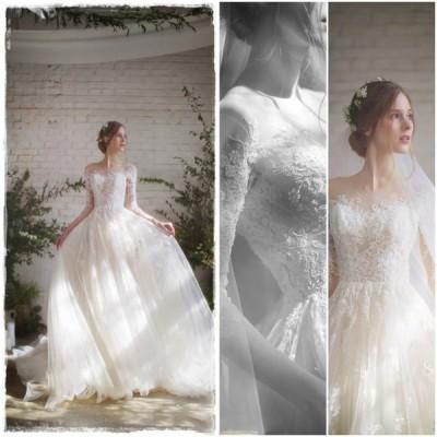 ウェディングドレス/結婚式/二次会/ホワイト/花嫁/ウェディング/プリンセスドレス/白ドレス/ロングドレス/披露宴