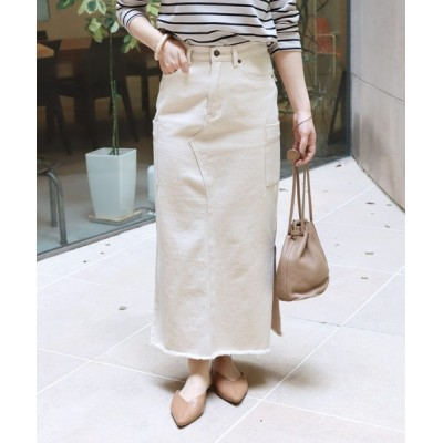and Me(アンドミー) / コットンツイルタイトカーゴロングスカート WOMEN スカート > スカート