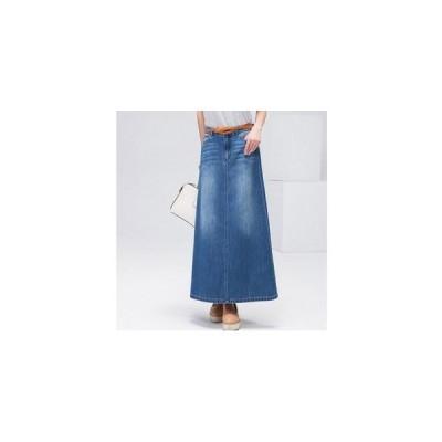 デニムスカート レディース ボトムス ロングスカート Aライン ハイウエストスカートミモレ丈 体型カバー きれいめ 大きいサイズあり
