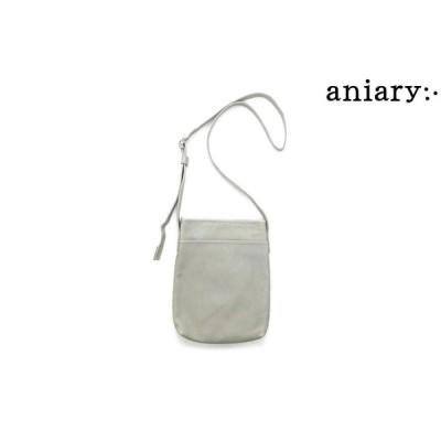 アニアリ / aniary バッグ 23-03000iv クロッシングレザーショルダーバッグ アイボリー 国産(日本製)