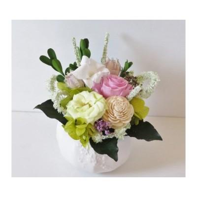 プリザーブド フラワー 仏花 お供え 和風 仏壇花  白いデンファレ 地域限定 送料無料 フラワーアレンジメント