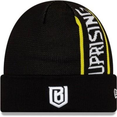 ニューエラ メンズ 帽子 アクセサリー Boston Uprising New Era Cuffed Knit Hat Black