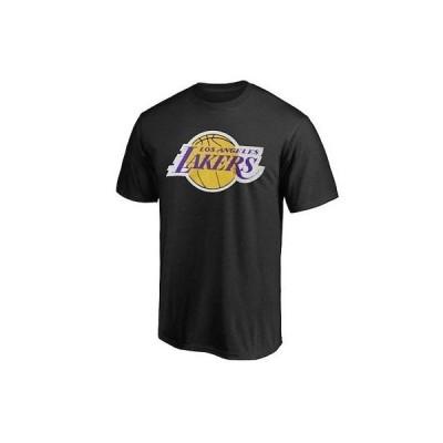 バスケットボール NBA ファナティクス ブランド Los Angeles Lakers Black Primary Logo T-Shirt