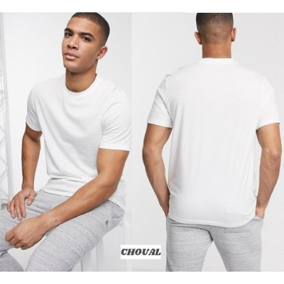 ASOS クルーネックオーガニックTシャツ ホワイト 半袖 送料無料 エイソス 無地 シンプル