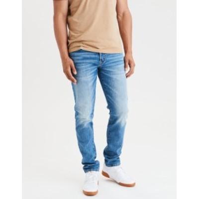 アメリカンイーグル メンズ デニムパンツ ボトムス AE AirFlex+ Slim Straight Jean Medium Indigo