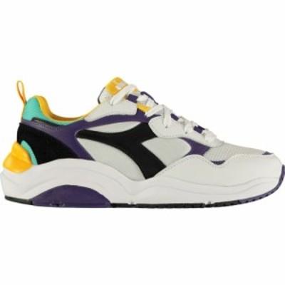 ディアドラライフスタイル Diadora Lifestyle メンズ スニーカー シューズ・靴 Whizz Run Trainers White/Mulberry